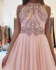 Chic A Line Prom Dress Simple Modest Elegant Cheap Long Chiffon Prom Dress #VB1477