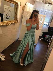 Long Prom Dress Simple Modest Elegant Simple Cheap Off The Shoulder Prom Dress #VB1479