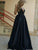 Black Long Prom Dress Simple Modest Elegant V Neck Cheap Prom Dress # VB1480