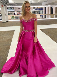 Chic Mermaid Prom Dress Simple Modest Elegant Cheap Long Off The Shoulder Prom Dress #VB1485