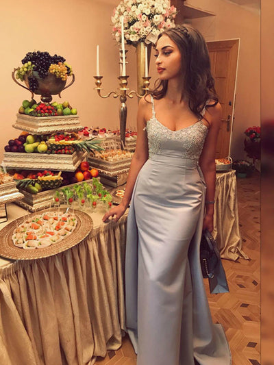 Chic Long Prom Dress Simple Modest Elegant Tight Cheap Prom Dress #VB1486