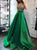 2018 Green Prom Dress Simple Modest Elegant African Cheap Long Prom Dress # VB1487 - DemiDress.com