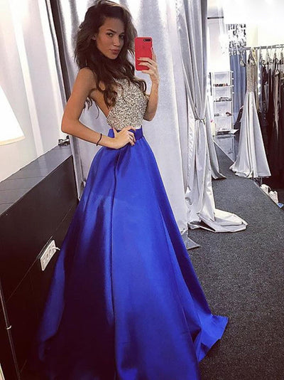 2018 Green Prom Dress Simple Modest Elegant African Cheap Long Prom Dress # VB1487