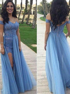 Chic A Line Prom Dress With Sleeves Simple Modest Elegant Cheap Long Lace Prom Dress #VB1497