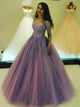 Ball Gown Prom Dress With Sleeves Simple Modest Elegant Cheap Long V Neck Prom Dress #VB1511