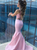 Two Piece Prom Dress Simple Modest Elegant Cheap Pink Long Mermaid Prom Dress #VB1516