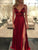Long Burgundy Prom Dress Simple Modest Elegant Chic Simple Cheap Prom Dress #VB1517