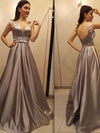2018 Chic Long Prom Dress Simple Modest Elegant Straps Cheap Prom Dress #VB1518 - DemiDress.com