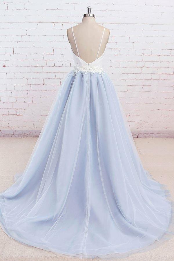 Chic Long Prom Dress Simple Modest Elegant Straps Cheap Prom Dress #VB1521