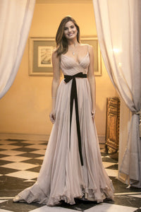 Chic LongProm Dress Simple Modest Elegant Simple Cheap Prom Dress #VB1523