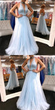 Chic A Line Prom Dress Simple Modest Elegant Cheap Long Prom Dress #VB1524