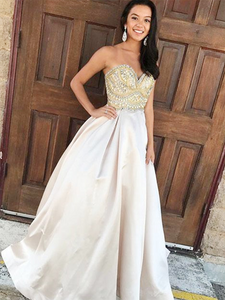 2018 Chic A Line Prom Dress Simple Modest Long Cheap Prom Dress #VB1563 - DemiDress.com