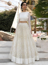 2018 Two Piece Prom Dress Simple Cheap A Line Long Lace Prom Dress #VB1564 - DemiDress.com