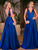 2018 Chic A Line Prom Dress Modest V Neck Cheap Simple Long Prom Dress #VB1581 - DemiDress.com