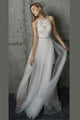 2018 Chic A Line Prom Dress Modest Cheap Long Lace Prom Dress #VB1608 - DemiDress.com