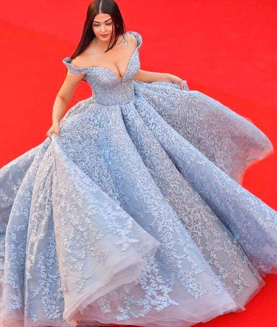 2018 Ball Gown Wedding Dress Plus Size Elegant Off The Shoulder Vintage Wedding Dress # VB1618 - DemiDress.com