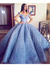 2018 Ball Gown Wedding Dress Plus Size Elegant Off The Shoulder Vintage Wedding Dress # VB1618