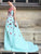 2018 A Line Prom Dress Modest Beautiful Floral Cheap Long Prom Dress #VB1628 - DemiDress.com