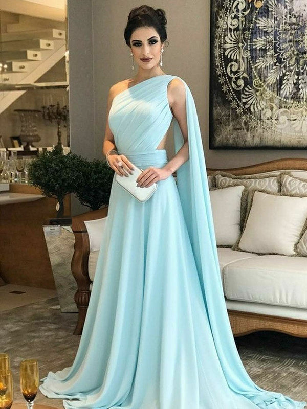 5719f933c0f Chic A Line Chiffon Prom Dress Modest Beautiful Cheap Long Prom Dress   VB1654