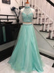 Two Piece Prom Dress Modest Beautiful Cheap Long Prom Dress #VB1667