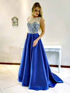 Chic A Line Prom Dress Modest Cheap Long Prom Dress #VB1679