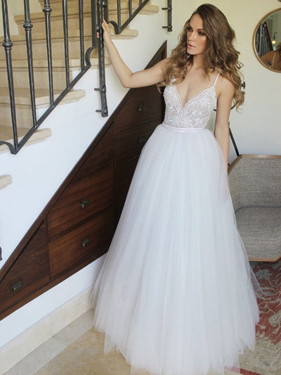 Chic A Line Prom Dress Modest Beautiful Lace Long Prom Dress #VB1681