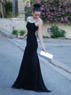 2018 Sheath Black Prom Dress Modest Cheap Long Prom Dress #VB1686 - DemiDress.com