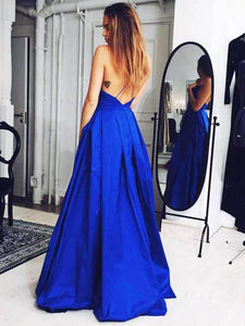 Chic A Line Prom Dress Modest Cheap Simple Long Prom Dress #VB1696