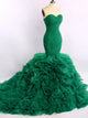 Chic Mermaid Prom Dress Modest Simple Green Cheap Long Prom Dress #VB1704