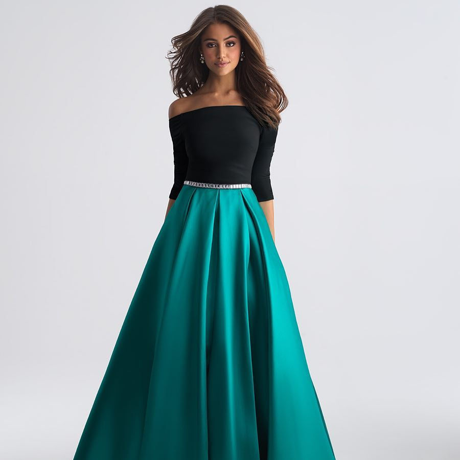 Two Piece Prom Dress Modest Beautiful Vintage Cheap Long Prom Dress ...