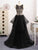 2018 A Line Prom Dress Modest Beautiful Black Cheap Long Prom Dress #VB1710 - DemiDress.com