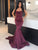 Chic Mermaid Prom Dress Modest Beautiful Burgundy Cheap Long Prom Dress #VB1715