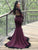 Mermaid Burgundy Prom Dress Modest Cheap Long Prom Dress #VB1739