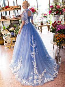 Ball Gown Prom Dress Modest Beautiful Simple Cheap Long Prom Dress #VB1749