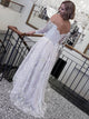 A Line Wedding Dress Off The Shoulder Plus Size Lace Vintage Wedding Dress # VB1754