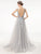 2018 A Line Silver Prom Dress Modest Beautiful Cheap Long V Neck Prom Dress #VB1758 - DemiDress.com