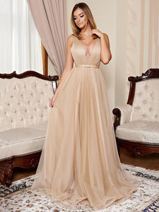 2018 A Line Prom Dress Modest Cheap Simple Long Prom Dress #VB1759 - DemiDress.com
