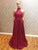 Chic A Line Prom Dress Modest Beautiful Red Cheap Long Prom Dress #VB1760