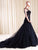 2018 A Line Black Prom Dress Modest Cheap Lace Long Prom Dress #VB1761 - DemiDress.com