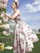 2018 Cheap Homecoming Dress Floral Beautiful Pink Homecoming Dress # VB1763 - DemiDress.com