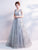 Chic A Line Silver Prom Dress Modest Beautiful Cheap Long Prom Dress #VB1767