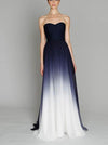 2018 A Line Ombre Prom Dress Modest Cheap Long Prom Dress #VB1802 - DemiDress.com
