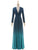 2018 A Line Ombre Prom Dress Modest V Neck Cheap Long Prom Dress #VB1803 - DemiDress.com