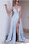 2018 Chic Blue Prom Dress Modest Cheap Simple Long Prom Dress #VB1810 - DemiDress.com