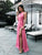 2018 Chic Watermelon Prom Dress Modest Cheap Simple Long Prom Dress #VB1811 - DemiDress.com
