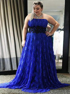 Lace Plus Size Prom Dress Modest Cheap Long Prom Dress #VB1819
