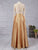 Lace Two Piece Prom Dress Modest Beautiful Cheap Long Prom Dress #VB1822
