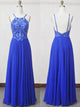 Chic A Line Prom Dress Modest Beautiful Cheap Long Chiffon Prom Dress #VB1824