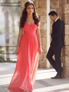 Chiffon A Line Prom Dress Modest Beautiful Cheap Long Prom Dress #VB1829