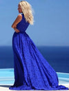 A Line Prom Dress Modest Beautiful Cheap Lace Long Prom Dress #VB1831